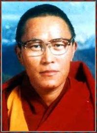 Framed portrait of Tenzin Delek Rinpoche