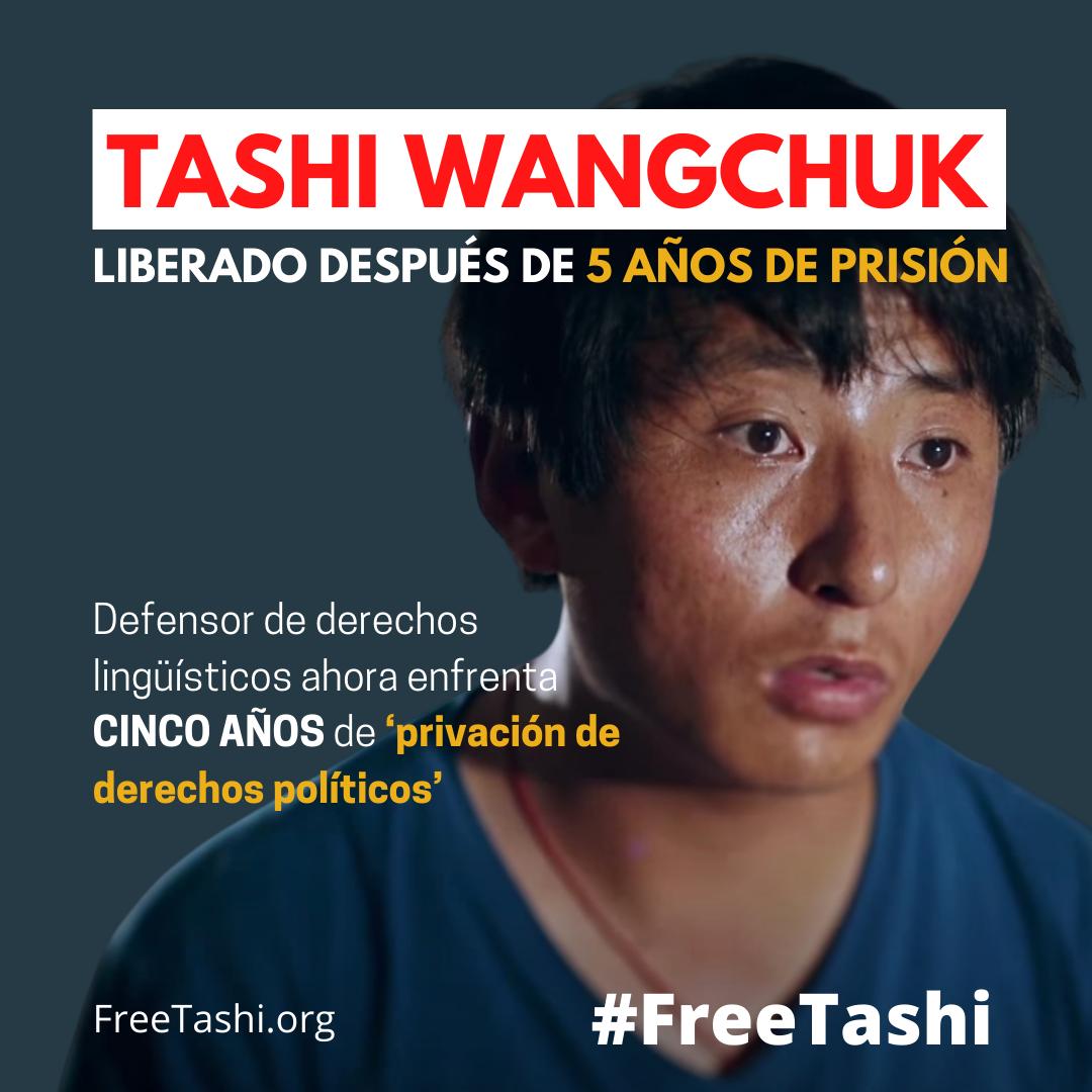 Tashi Wangchuk liberado